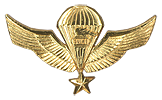 Senior Pathfinder Parachute (Paracaidista Guía Jefe de Salto) Officer/NCO qualification Breast Wings. Used as well a B