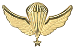 Parachutist Wings Senior Used  from 1986 to 1990.