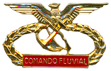 River Commando breast badge / Comando Fluvea